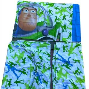 Toy Story Buzz Woody Army Men Twin Bed Sheet Set